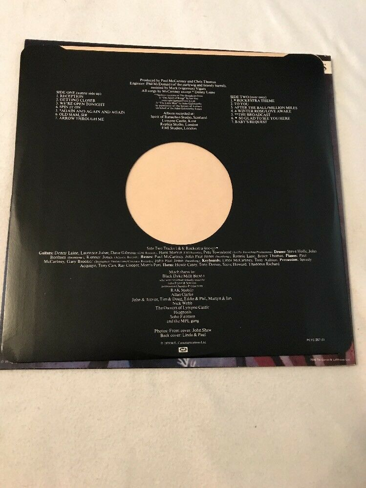 Wings Back to the Egg Vinyl LP PCTC 257 EX/EX
